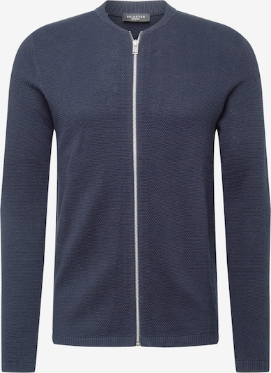 SELECTED HOMME Strickjacke 'ROCKY ZIP' in dunkelblau, Produktansicht
