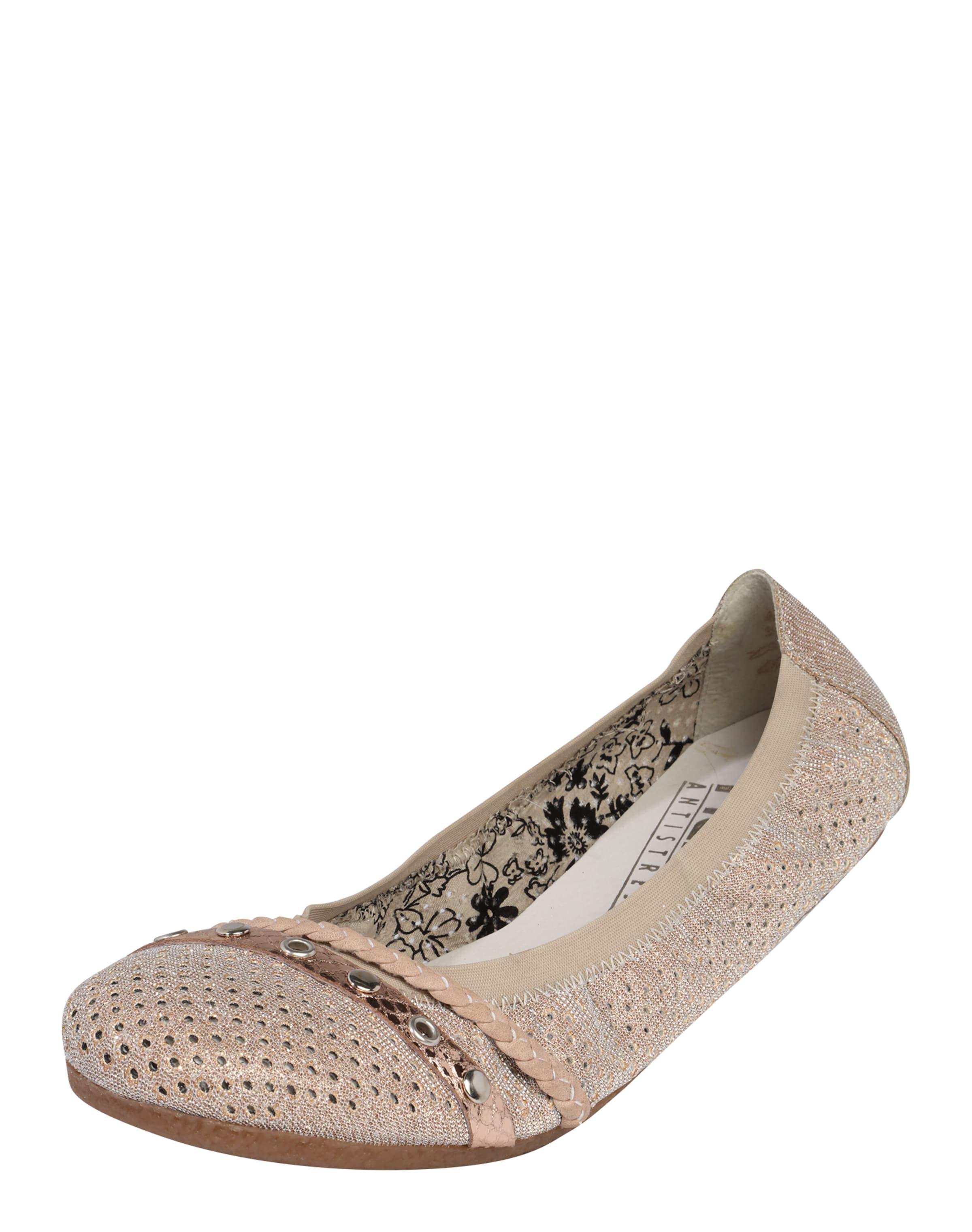 RIEKER Ballerinas mit Zierbändern Verschleißfeste billige Schuhe