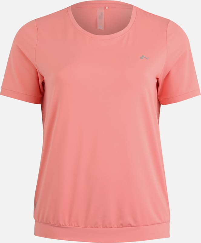 Only Play Curvy Sport-Shirt 'ONPCLARISE' in hellpink, Produktansicht