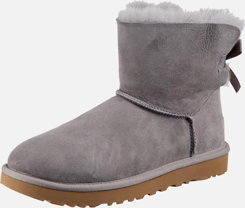 UGG Stiefeletten 'Mini Bailey Bow' in grau: Frontalansicht