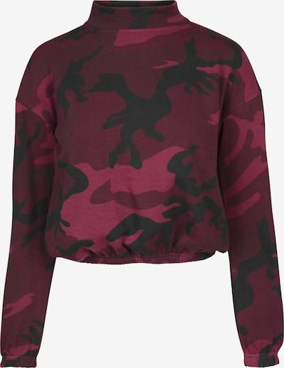 Urban Classics Sweatshirt in dunkelpink / weinrot / schwarz, Produktansicht