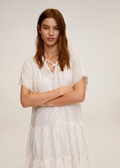 MANGO Letní šaty 'Bohochic' - bílý melír, Model/ka
