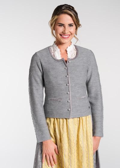 SPIETH & WENSKY Knitted Janker 'Naritz' in mottled grey, View model