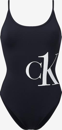 Calvin Klein Jednodijelni kupaći kostim u crna / bijela, Pregled proizvoda