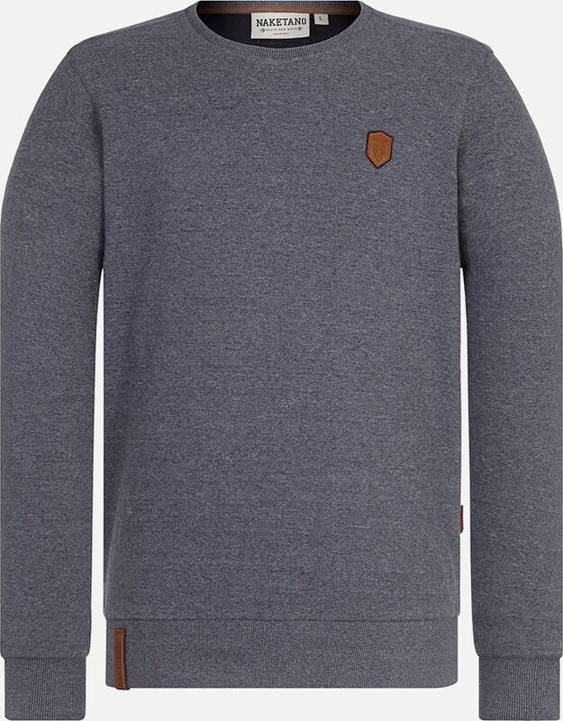 Naketano Sweatshirt in taubenblau  Freizeit, schlank, schlank