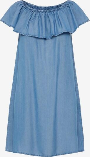 VERO MODA Off-Shoulder Kleid in blue denim, Produktansicht