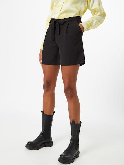VILA Kalhoty se sklady v pase 'ESLIE' - černá, Model/ka
