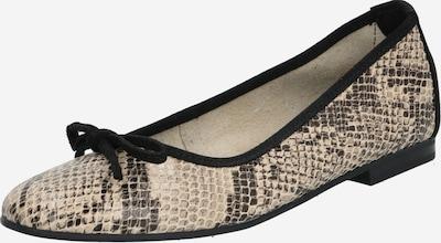 ESPRIT Ballerina ' Moala Snake ' in beige / schwarz, Produktansicht