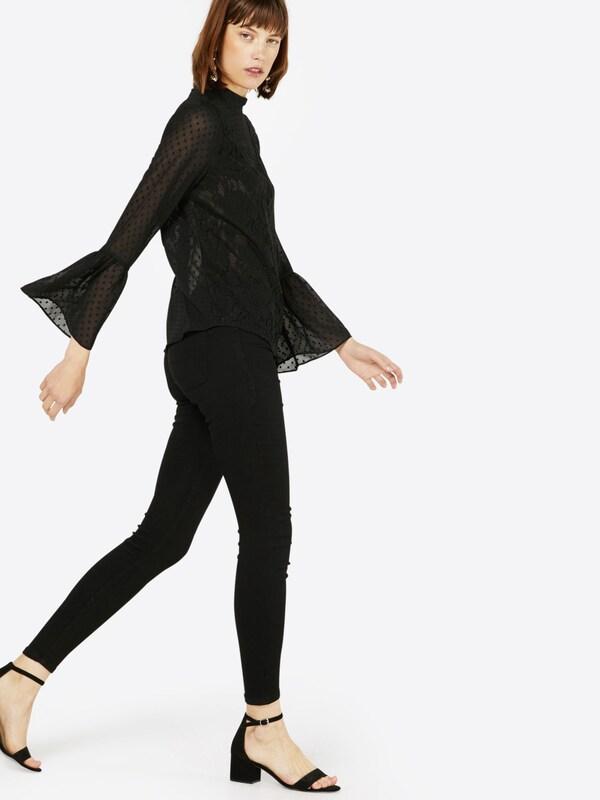 JACQUELINE de YONG 'JDYSKINNY LOW ULLE BLACK JEANS DNM NOOS' Skinny Jeans