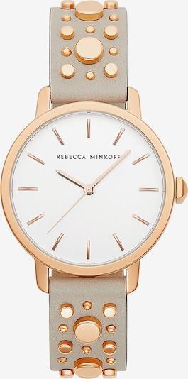 Rebecca Minkoff Uhr 'Bbfl 2200210' in gold / greige / weiß, Produktansicht