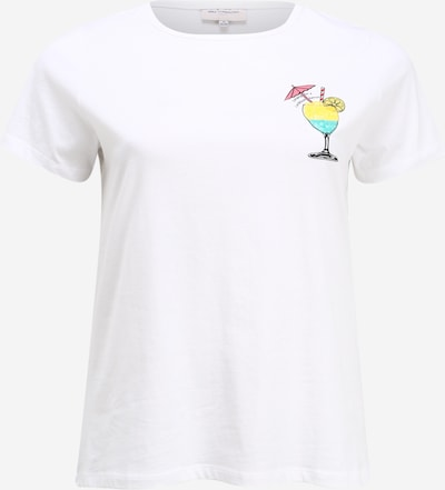 Tricou 'CARCARIBBEAN LIFE  SUNSET SS REG TEE' ONLY Carmakoma pe alb, Vizualizare produs