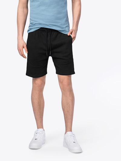 Urban Classics Kurze Sweatpants 'Terry Shorts' in schwarz: Frontalansicht