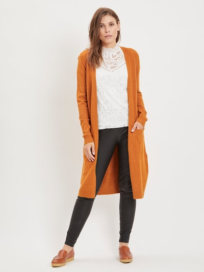 VILA Strickcardigan 'Ril' in orange, Modelansicht