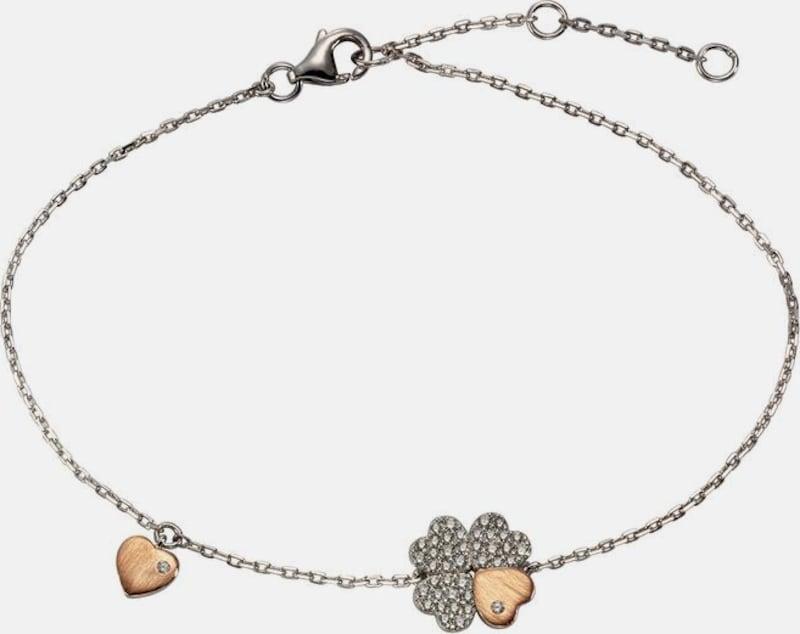 FIRETTI Armband »Kleeblatt/Herz«