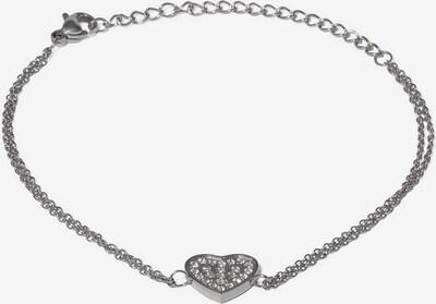 Style Republic Armband H'erz 4334' in grau / naturweiß, Produktansicht