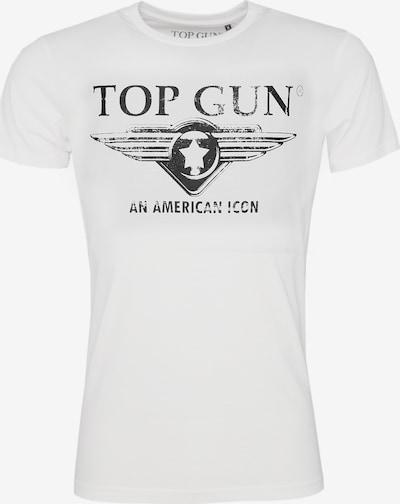 TOP GUN T-Shirt 'Beach' in schwarz / weiß, Produktansicht
