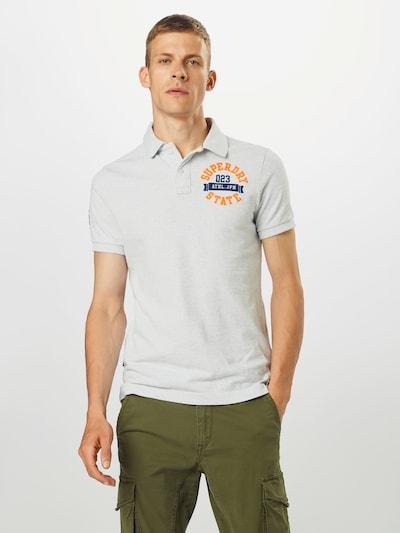 Superdry Shirt 'Classic Superstate' in navy / orange / weißmeliert: Frontalansicht