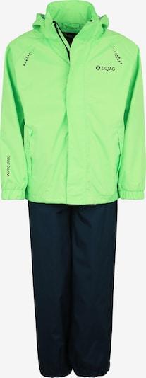 ZigZag Regenanzug 'Ophir' in grün, Produktansicht