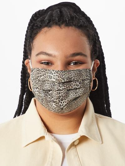 Mask with Attitude Maska z materiału 'JJ Leo' w kolorze brązowym: Widok z przodu