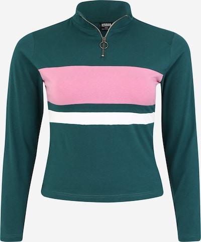 Maglietta Urban Classics Curvy di colore petrolio / rosa / bianco, Visualizzazione prodotti