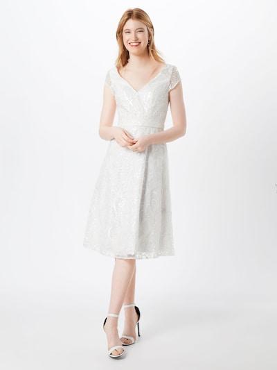 Kokteilinė suknelė iš Unique , spalva - kremo, Modelio vaizdas