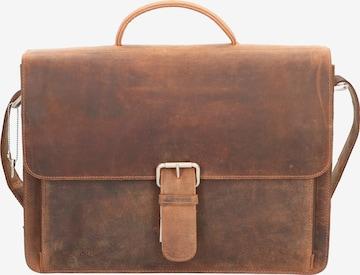 Plevier Aktentasche 'Retro Darwin' in Braun