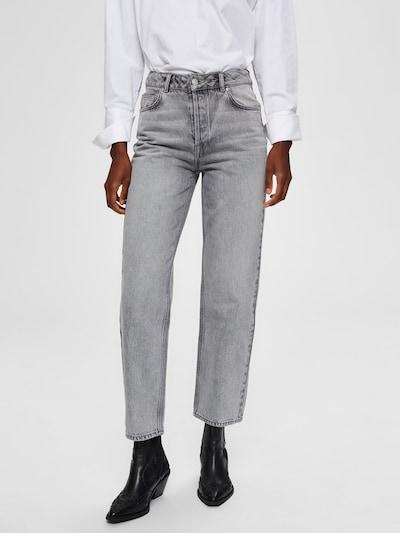 SELECTED FEMME Jeans 'SLFKATE' in grau, Modelansicht