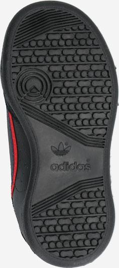ADIDAS ORIGINALS Sneaker 'Continental 80' in rot / schwarz: Ansicht von unten