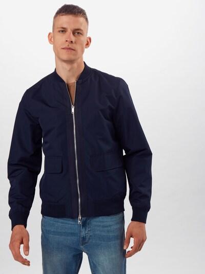 BURTON MENSWEAR LONDON Veste mi-saison en bleu marine, Vue avec modèle