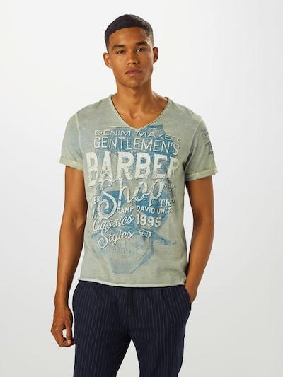 CAMP DAVID Koszulka w kolorze niebieski / szarym: Widok z przodu