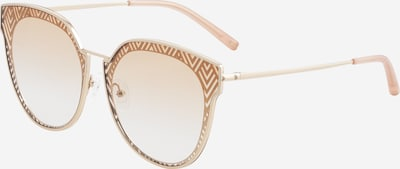 Matthew Williamson Zonnebril 'DAHLIA LIGHT ' in de kleur Beige / Goud / Rosa, Productweergave