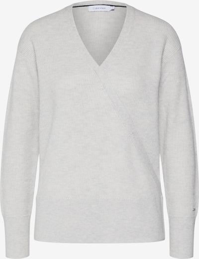 Calvin Klein Pulover 'LS WRAP'   svetlo siva barva, Prikaz izdelka
