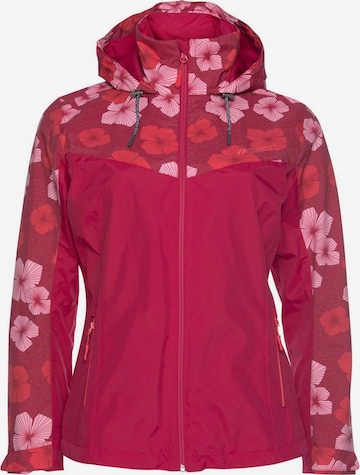 Maier Sports Outdoor Jacket 'Flowerjacket' in Pink