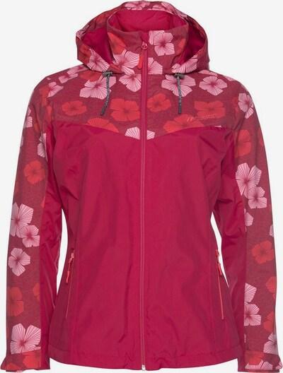 Maier Sports Regenjacke 'Flowerjacket' in rot, Produktansicht