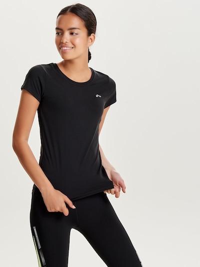 ONLY PLAY Shirt 'Clarissa' in schwarz / weiß: Frontalansicht