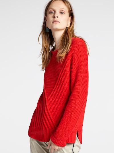 Sandwich Pullover in neonrot, Modelansicht