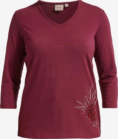 LauRie Shirt 'Diaz' in de kleur Karmijnrood / Wit: Vooraanzicht