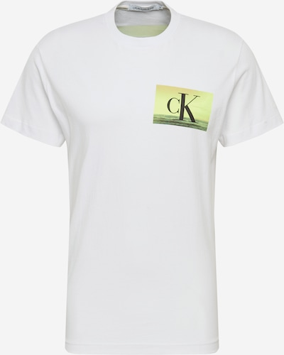 Tricou 'FESTIVAL PHOTOPRINT TEE' Calvin Klein Jeans pe alb, Vizualizare produs