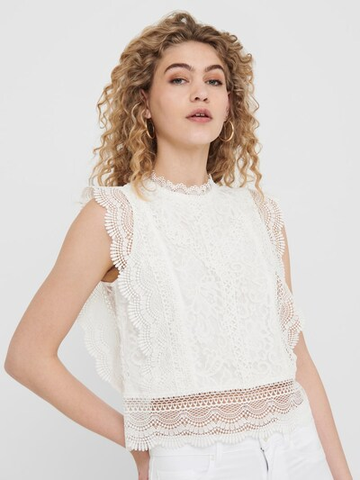 ONLY Blus 'ONLKARO' i vit, På modell