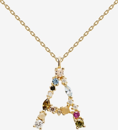 P D PAOLA Necklace in sky blue / gold / apple / rose / black, Item view