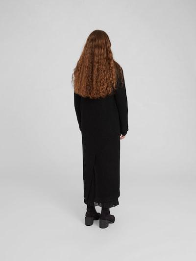 Rudeninis-žieminis paltas 'Frida' iš EDITED , spalva - juoda: Vaizdas iš galinės pusės