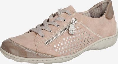 RIEKER Sneaker in hellbraun / rosa: Frontalansicht