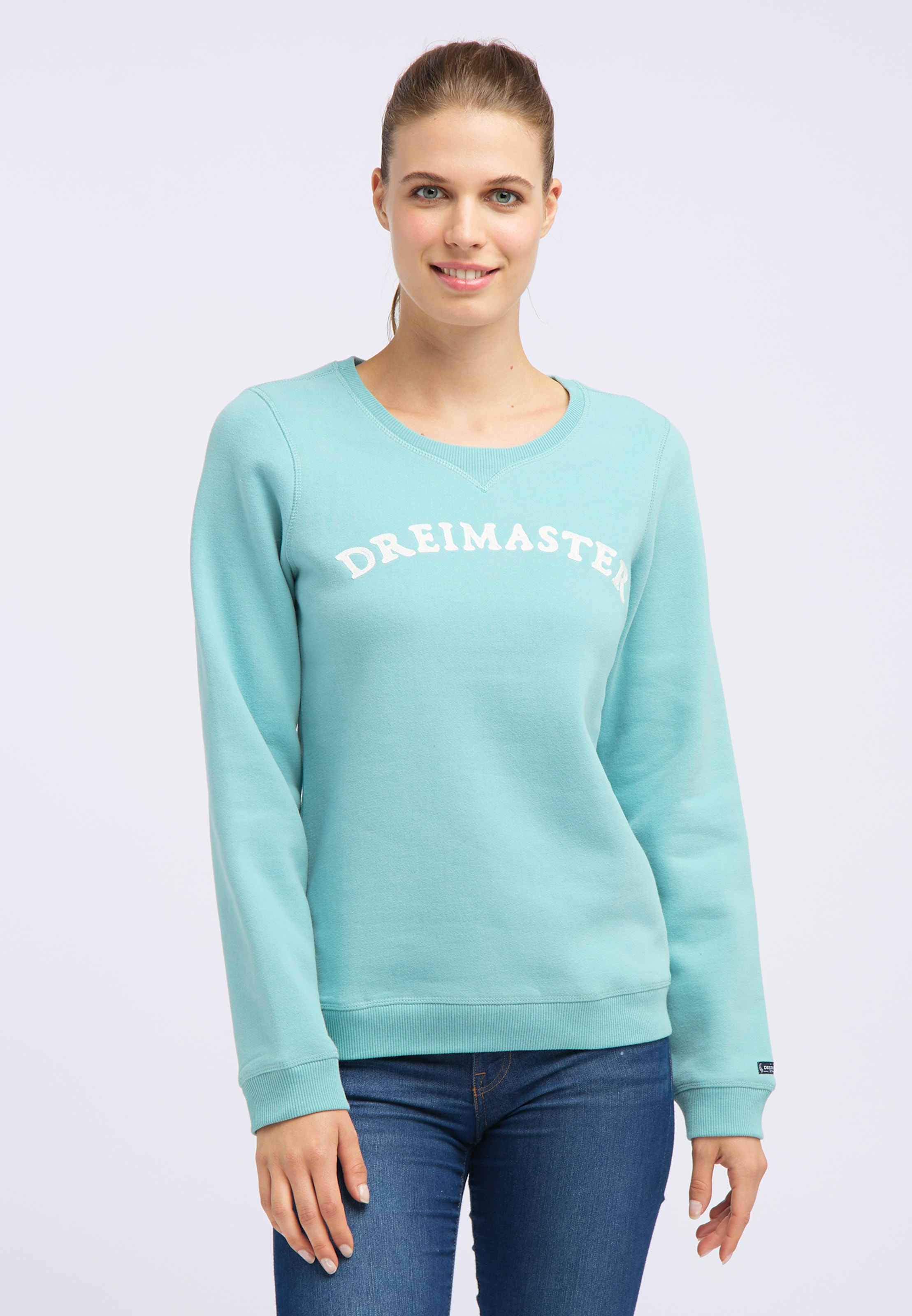 En TurquoiseBlanc Sweat shirt Dreimaster iuOXwPkZTl
