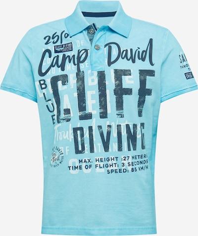 CAMP DAVID Poloshirt in hellblau / schwarz, Produktansicht
