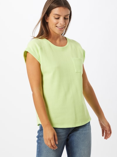 EDC BY ESPRIT Shirt 'Waffle' in zitronengelb: Frontalansicht