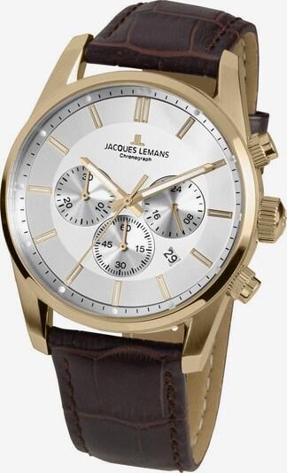 Jacques Lemans Chronograph in kastanienbraun / gold / weiß, Produktansicht