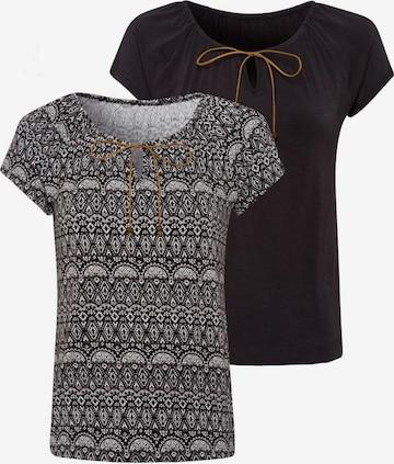 LASCANA Shirt in Black