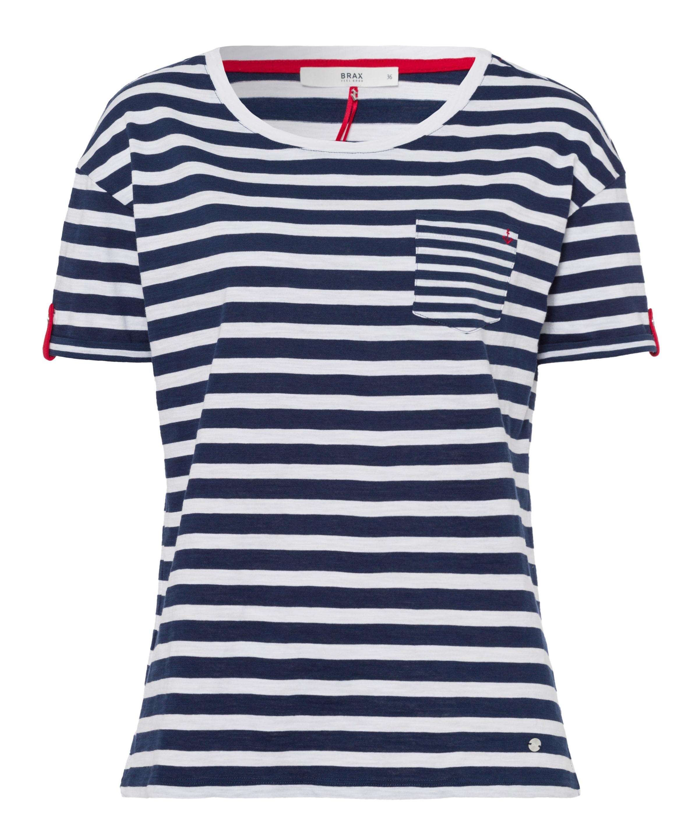 Brax Shirt NavyRot Weiß 'camille' In Hbe29YDEWI