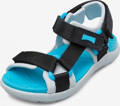 CAMPER Open schoenen 'Wous' in de kleur Aqua / Zwart / Wit, Productweergave