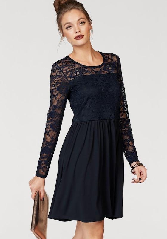 ONLY Kleid mit langen Ärmeln aus Spitze in blau | ABOUT YOU